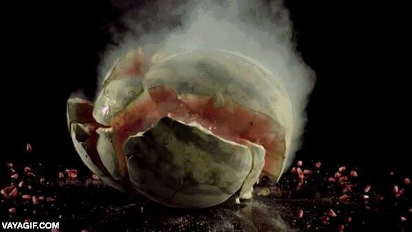 Enlace a Choque de frambuesa y sandía, ambas totalmente congeladas