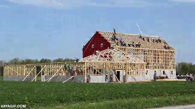 Enlace a La capacidad constructiva de los Amish es admirable