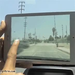 Enlace a Una aplicación de tablet útil de verdad, despejando el tráfico con un dedo
