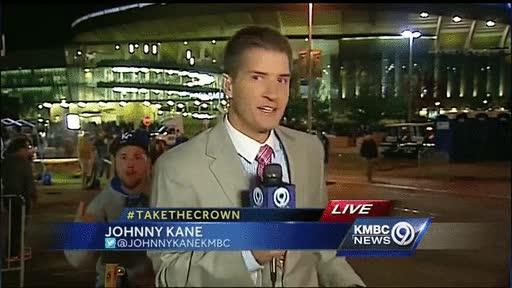 Enlace a Ya no sólo se conforman con colarse en cámara en directo sino que asustan a los reporteros
