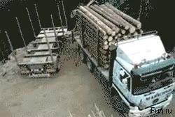 Enlace a Es difícil tener más habilidad al volante que este camionero