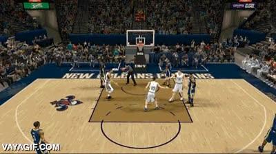 Enlace a Mira si es fiel a la realidad este juego de basket que hasta hay fails al chocar los cinco