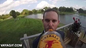 Enlace a Le ponen una GoPro a una botella y la pasan a todos los invitados de la boda