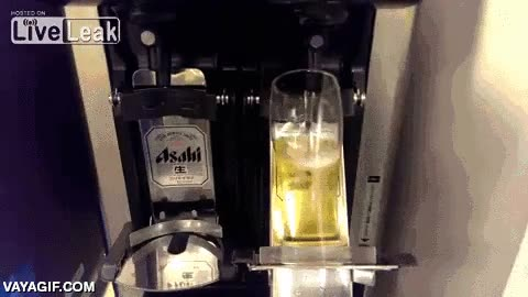 Enlace a Así sirven las cervezas los japoneses