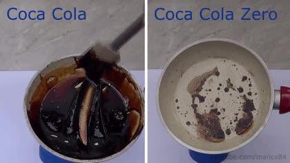 Enlace a El resultado de hervir Coca Cola normal y Coca Cola Zero