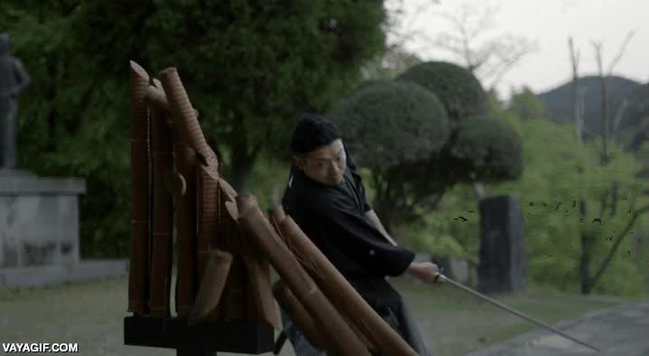 Enlace a La eficacia de una katana samurai de verdad