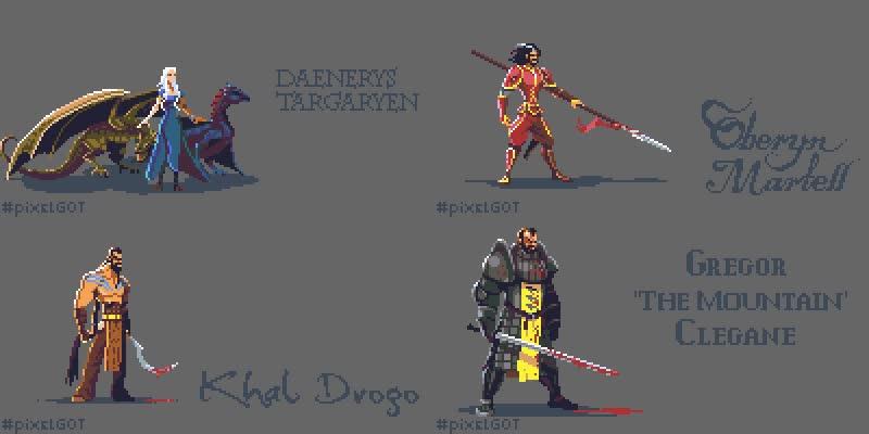 Enlace a Genial pixel art de Juego de Tronos, ¿ganas de que vuelva?