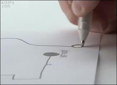 Enlace a Circuito de tinta de bolígrafo conductora de la electricidad