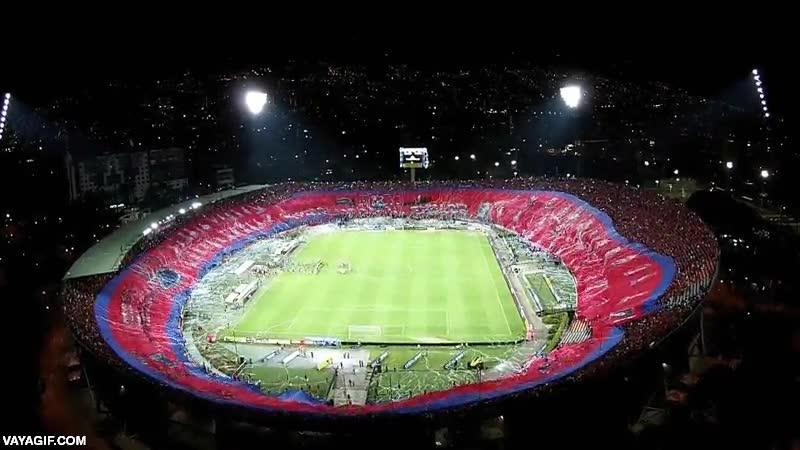 Enlace a Increíble mosaico desplegado en este estadio circular de Colombia