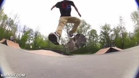 Enlace a A cámara lenta es más fácil apreciar la complejidad de ciertos trucos con el skate