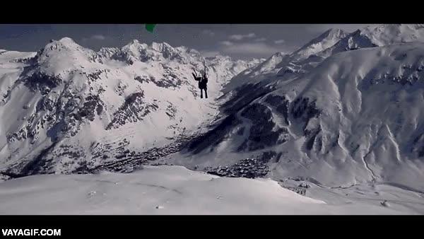 Enlace a Si eres un crack del parapente y del esquí, puedes hacer cosas maravillosas