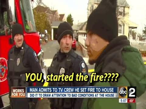Enlace a En mitad del incendio, aparece el autor y se marca una confesión ante la poli, ¿verdad o vacilada?
