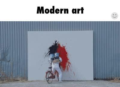 Enlace a Arte moderno explicado en un sencillo gif