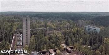 Enlace a Chernobyl a vista de dron, ni en The Walking Dead verás algo así