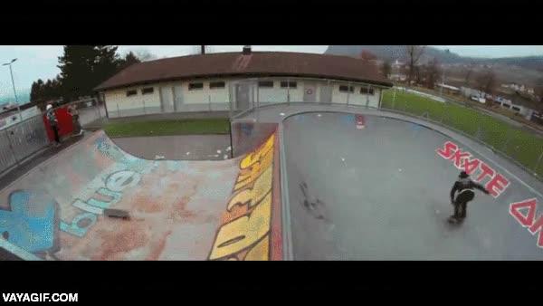 Enlace a Ojo al truco a doble skate que se marca Patrick Wider