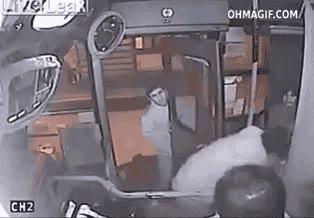 Enlace a Intento de robo en un autobús con muy poco éxito