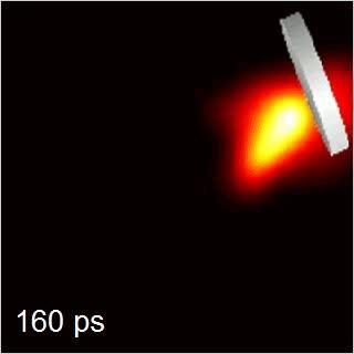 Enlace a Han creado una cámara capaz de grabar a 100.000.000.000 fps, esto que veis es luz de láser grabada