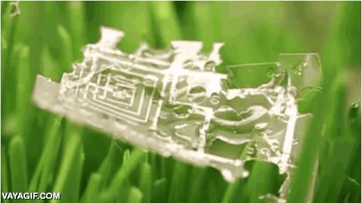 Enlace a Circuitos eléctricos biodegradables al contacto con el agua