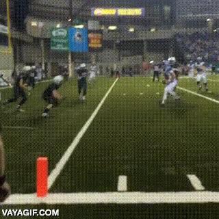 Enlace a Cuando estás decidido a hacer un touchdown, nada puede pararte