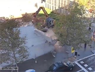 Enlace a Una demolición de edificio muy eficiente