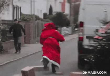 Enlace a Papá Noel robando los regalos de Navidad
