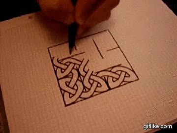 Enlace a Dibujando un nudo celta a gran velocidad