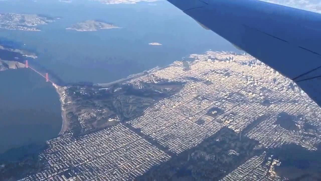 Enlace a La ciudad de San Francisco a vista de avión