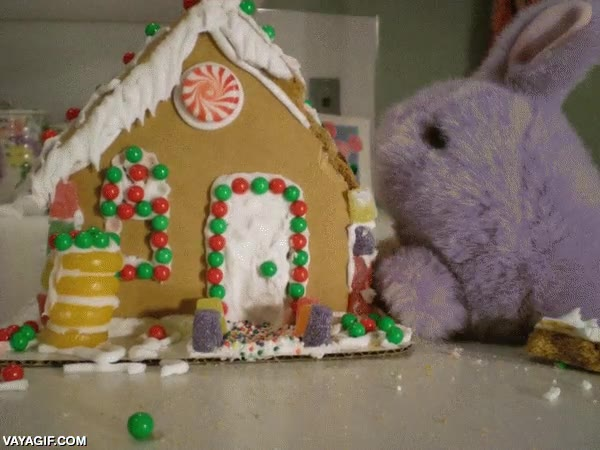Enlace a El conejo destructor de casitas de jengibre