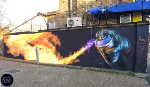 Enlace a Un graffiti muy ardiente