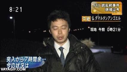 Enlace a Estar dando un reportaje en directo y que aparezca un temerario con el coche derrapando por detrás