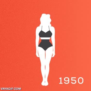 Enlace a 100 años de cuerpos femeninos, parece imposible pero ha cambiado mucho la cosa