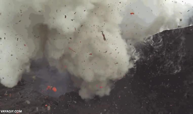 Enlace a Ahora con los drones, es así de fácil grabar erupciones volcánicas