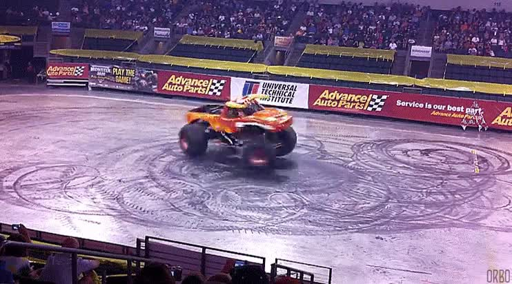 Enlace a Donuts con un monstertruck