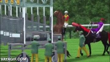 Enlace a La intimidación es clave en cualquier competición y este caballo lo sabe
