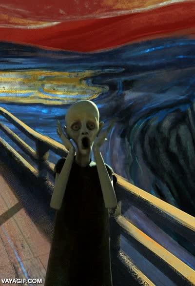 Enlace a Una versión animada espeluznante de El grito de Munch