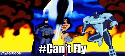 Enlace a El drama de ser el único superhéroe del grupo que no puede volar