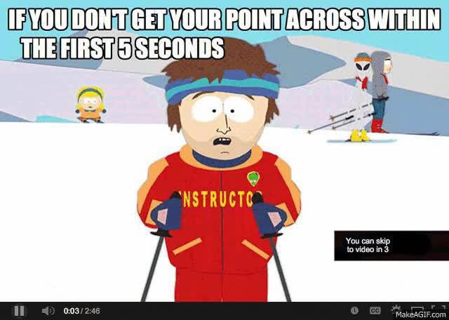 Enlace a Esto es lo que pasa cuando alguien hace anuncios en vídeo para Youtube más largos de 5 segundos