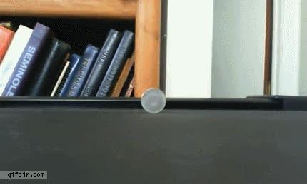 Enlace a Una moneda rodando en una cinta de correr, ¿por qué no se me había ocurrido nunca?