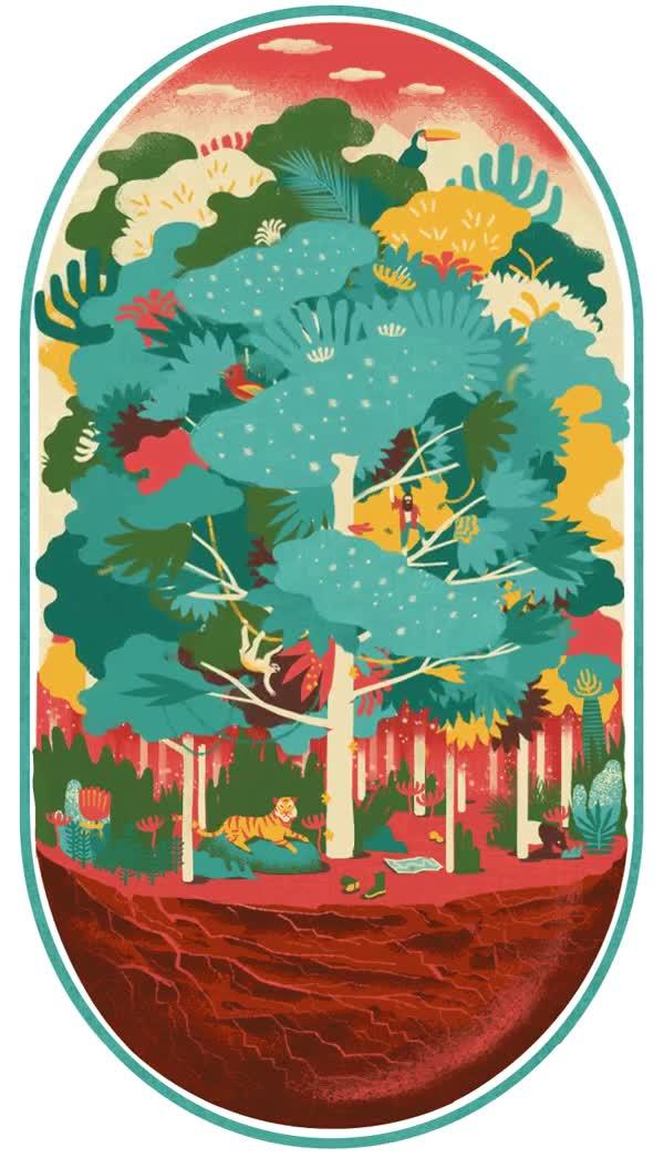 Enlace a Una animación muy sutil de la naturaleza, majestuosa dentro de su simplicidad