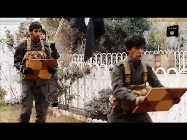 Enlace a No es broma, esto es un vídeo promocional del ejército del Estado Islámico