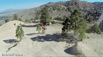 Enlace a Mountain bike extremo, pero extremo extremo