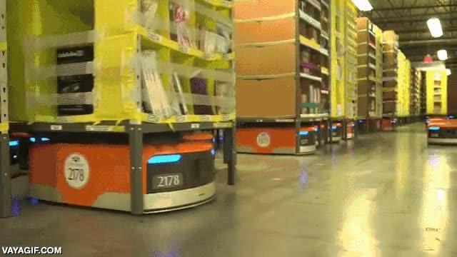 Enlace a El ejército de robots de los almacenes de Amazon