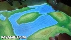 Enlace a Un mapa interactivo holográfico con arena
