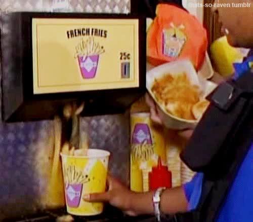 Enlace a Máquina expendedora de patatas fritas, pronto en sus fast-foods