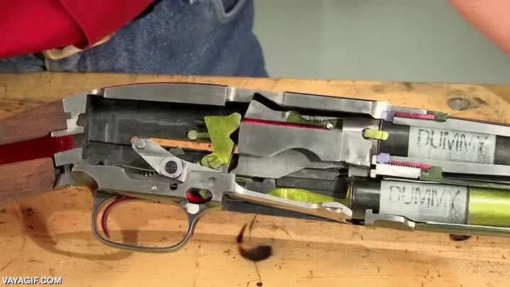 Enlace a Así funciona una escopeta Winchester Model 12 cortada en sección