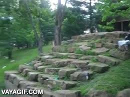 Enlace a Hay que ser muy valiente para saltar desde ahí arriba sobre esas rocas