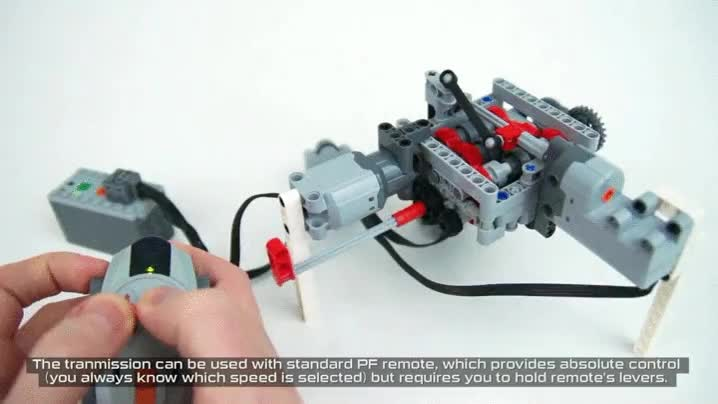 Enlace a Un motor de 6 marchas hecho completamente con Lego
