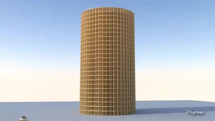 Enlace a Me encantan las simulaciones de efectos en cadena por ordenador, totalmente hipnóticas