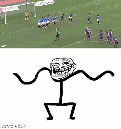 Enlace a El fútbol es un deporte de equipo, de trolleo en equipo