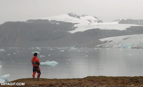 Enlace a Fotografías del mismo glaciar en 1920 y hoy